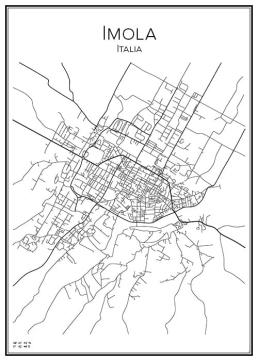 Stadskarta över Imola