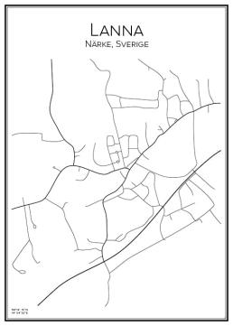 Stadskarta över Lanna