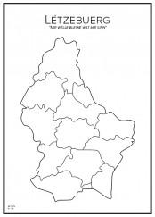 Stadskarta över Luxemburg
