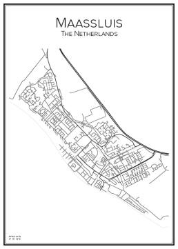 Stadskarta över Maassluis