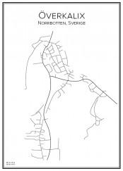 Stadskarta över Överkalix