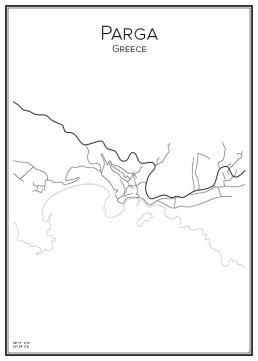 Stadskarta över Parga