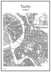 Stadskarta över Taipei