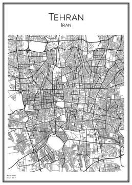 Stadskarta över Teheran