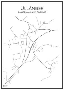 Stadskarta över Ullånger