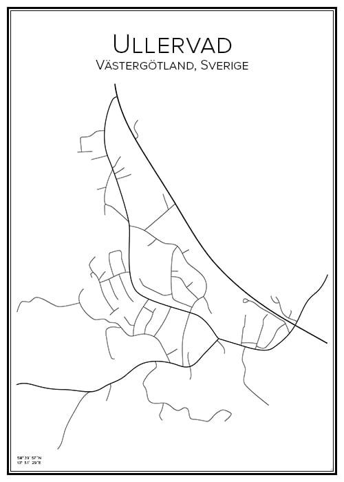 Stadskarta över Ullervad