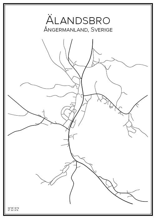 Stadskarta över Älandsbro