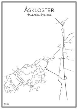 Stadskarta över Åskloster
