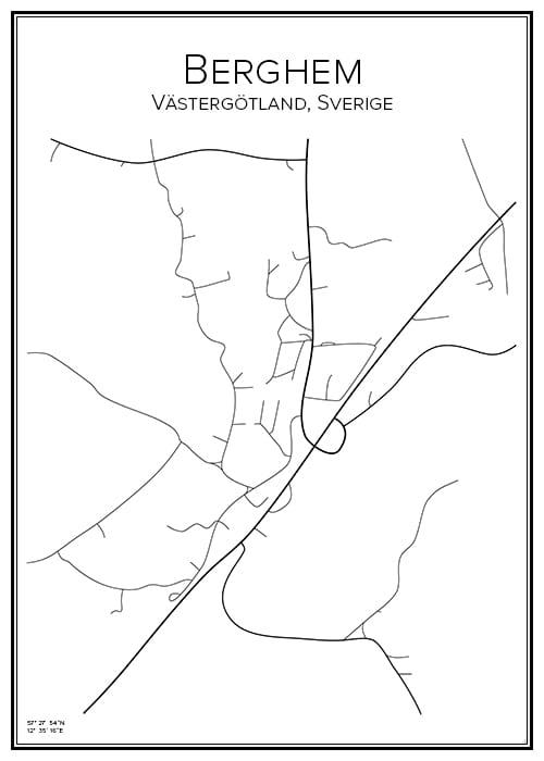 Stadskarta över Berghem