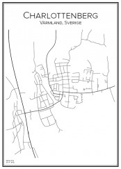 Stadskarta över Charlottenberg