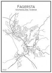 Stadskarta över Fagersta