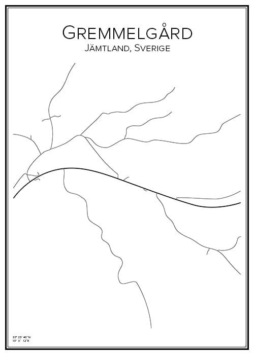 Stadskarta över Gremmelgård