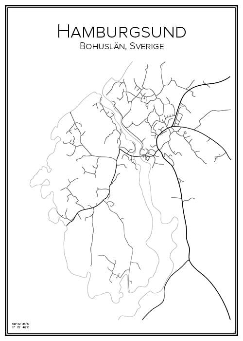 Stadskarta över Hamburgsund