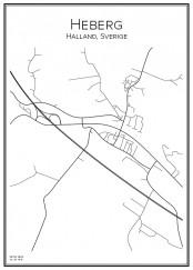 Stadskarta över Heberg