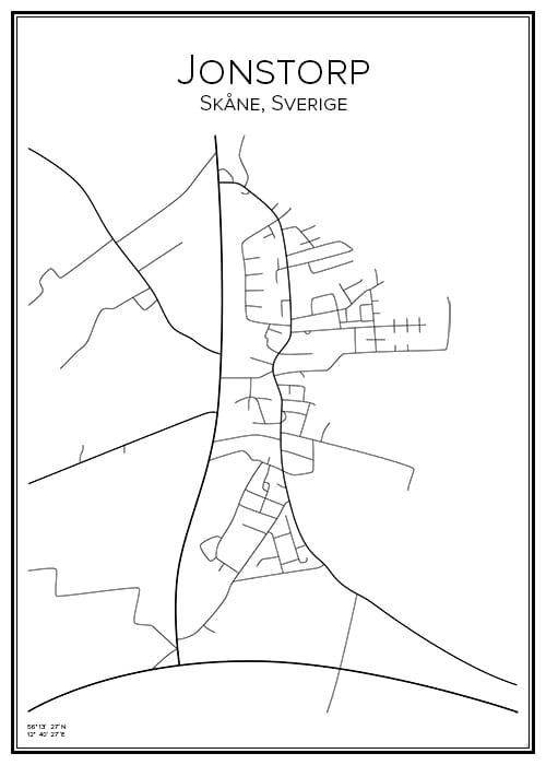 Stadskarta över Jonstorp