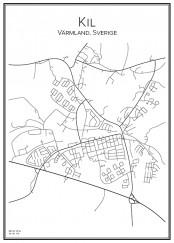 Stadskarta över Kil