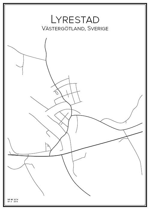 Stadskarta över Lyrestad