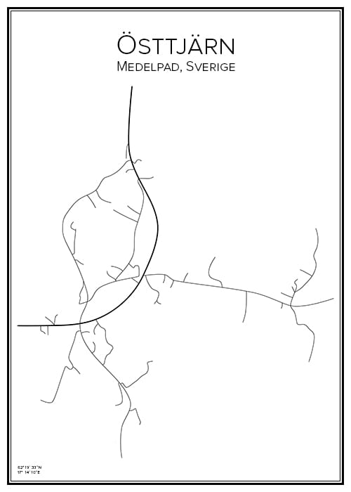 Stadskarta över Östtjärn