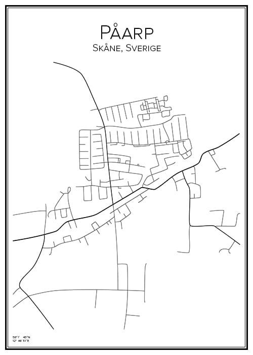 Stadskarta över Påarp