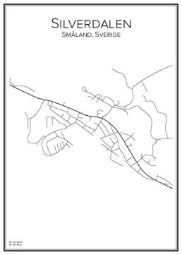 Stadskarta över Silverdalen