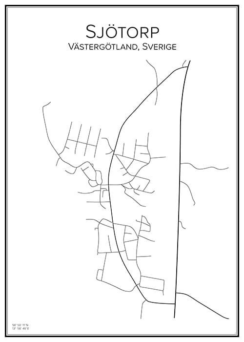 Stadskarta över Sjötorp