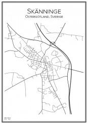 Stadskarta över Skänninge