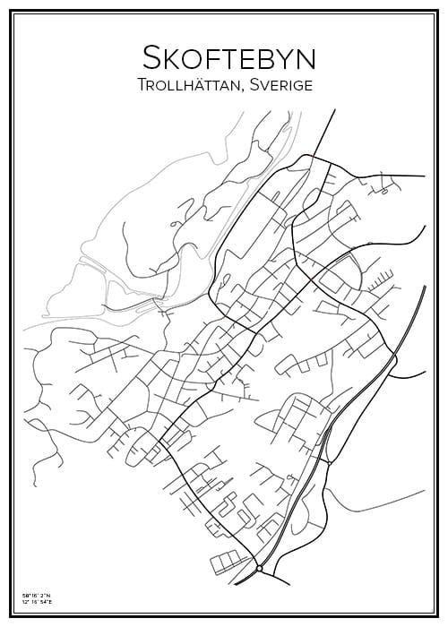 Stadskarta över Skoftebyn