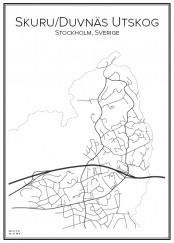 Stadskarta över Skuru
