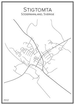Stadskarta över Stigtomta