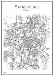 Stadskarta över Strasbourg