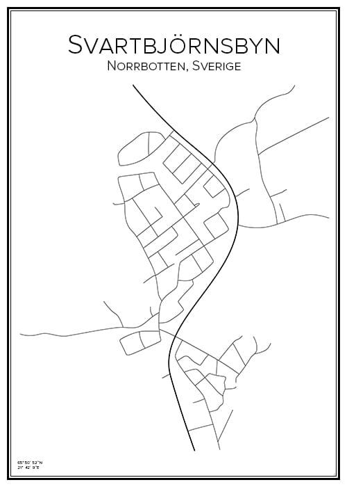 Stadskarta över Svartbjörnsbyn