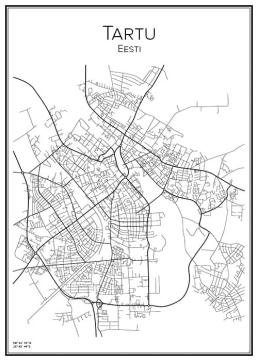 Stadskarta över Tartu