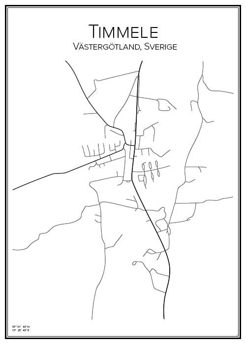 Stadskarta över Timmele