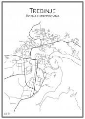 Stadskarta över Trebinje