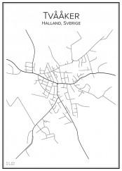 Stadskarta över Tvååker