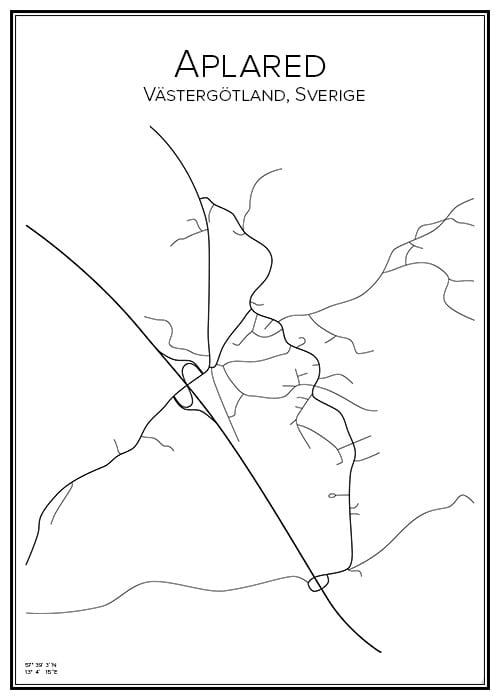 Stadskarta över Aplared