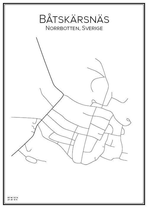 Stadskarta över Båtskärsnäs