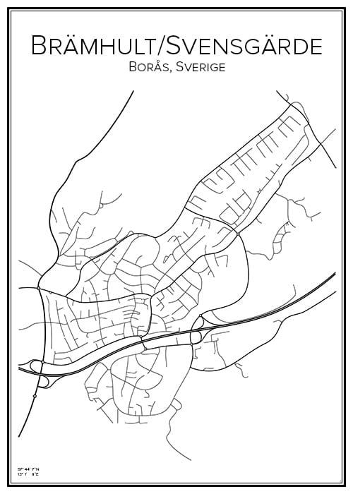 Stadskarta över Brämhult/Svensgärde