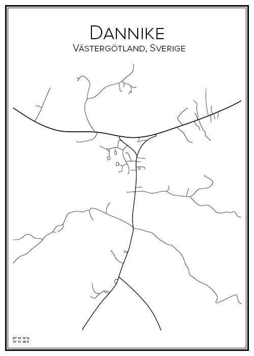 Stadskarta över Dannike
