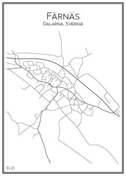 Stadskarta över Färnäs