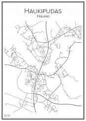 Stadskarta över Haukipudas