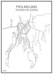 Stadskarta över Holmsund