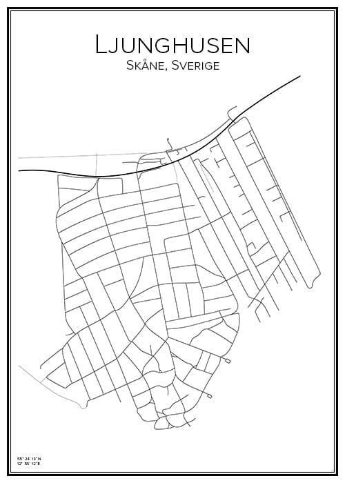 Stadskarta över Ljunghusen