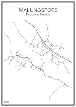 Stadskarta över Malungsfors