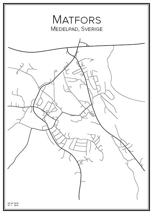 Stadskarta över Matfors