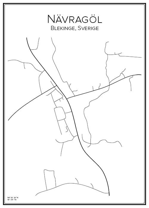 Stadskarta över Nävragöl