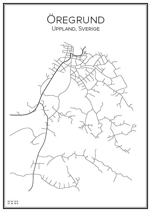 Stadskarta över Öregrund