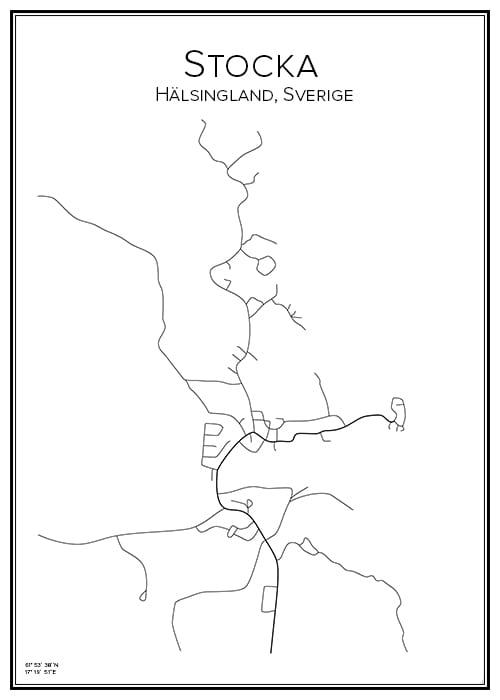 Stadskarta över Stocka