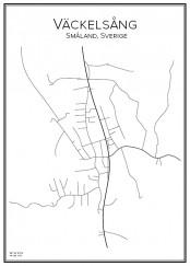 Stadskarta över äckelsång