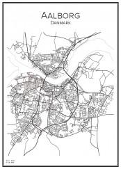 Stadskarta över Aalborg